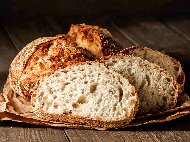 Домашен хляб с брашно от лимец със сода, кисело мляко и яйца, без мая